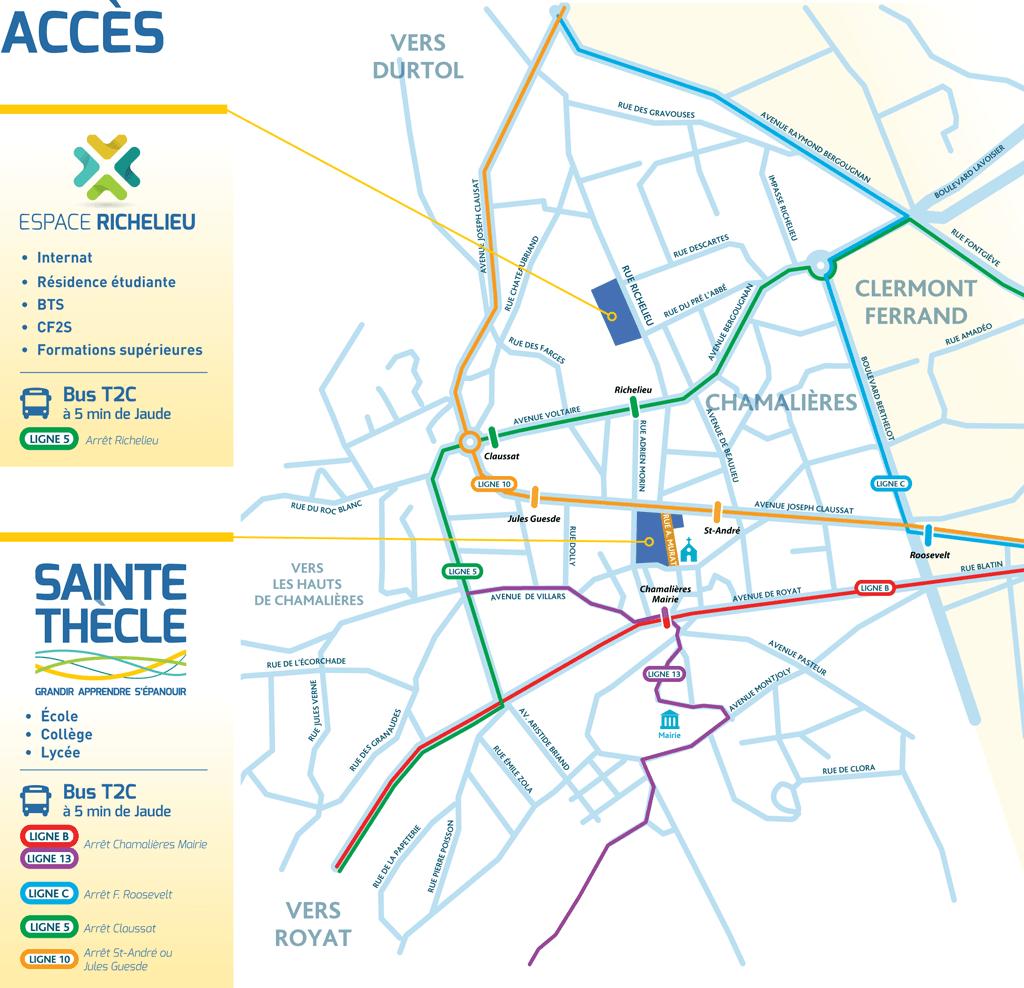 Localisation - Ensemble Scolaire Sainte-Thècle & Espace Richelieu