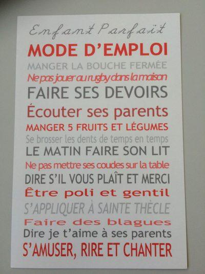 Mode d'emploi - Enfant parfait