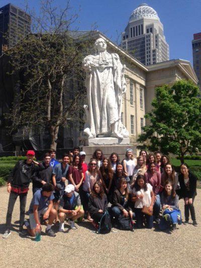 Voyage et échanges entre les élèves avec le Kentucky Country Day School aux USA