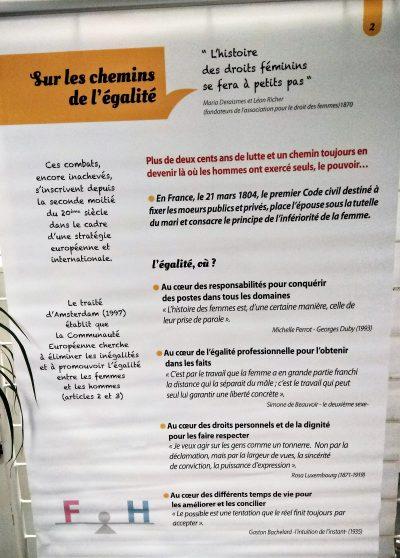Exposition Femmes AFEE Sainte Thècle